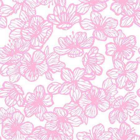 Sakura Hand Drawn Pattern
