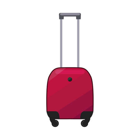 Pink Suitcase. Luggage in Cartoon Style for Surface Design Banners Fliers Prints Posters. Vector Illustration 版權商用圖片 - 124765863