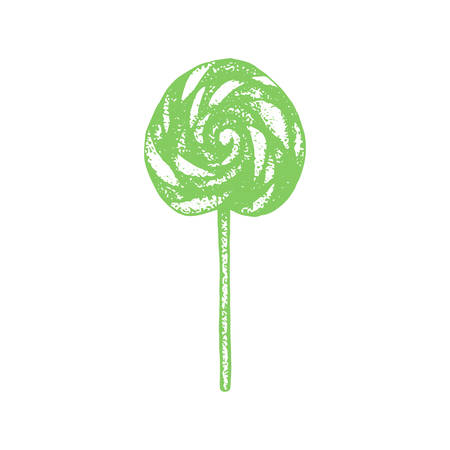 Lollipop. Candy in Hand-Drawn Style for Surface Design Banners Fliers Prints Posters Web. Vector Illustration Çizim