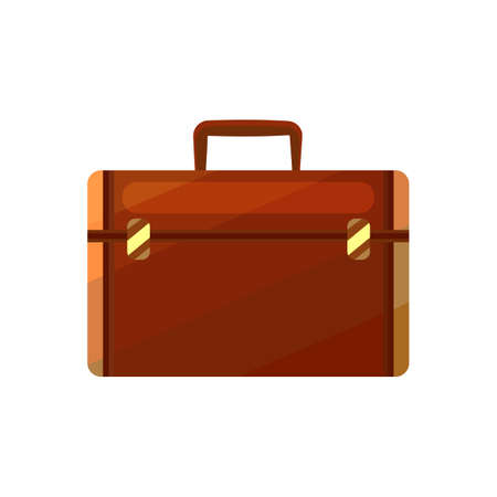 Briefcase. Luggage in Cartoon Style for Surface Design Banners Fliers Prints Posters Web. Vector Illustration 向量圖像