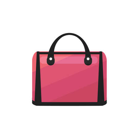 Pink Bag. Luggage in Cartoon Style for Surface Design Banners Fliers Prints Posters Web. Vector Illustration
