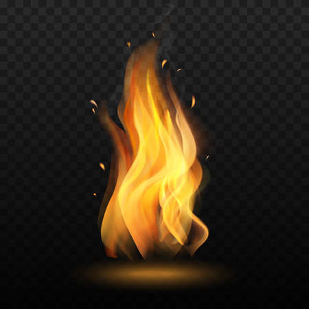 Isolated Campfire on Transparent Background in Realistic Style Foto de archivo - 124530940
