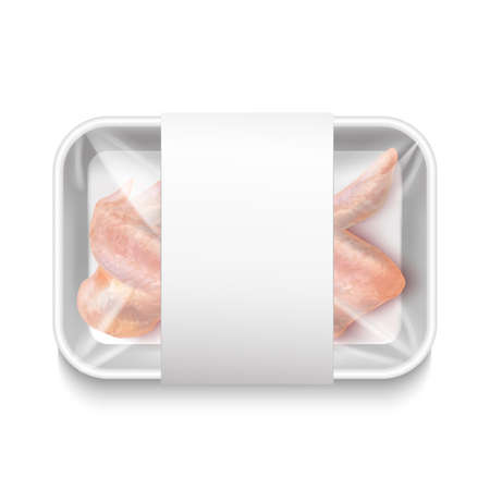 Isolated Chicken Wings Package in Realistic Style Ilustração