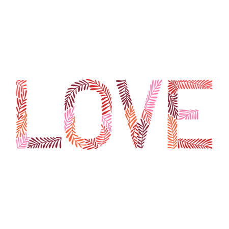 Love Hand Drawn Lettering for Cards Posters Banners Prints