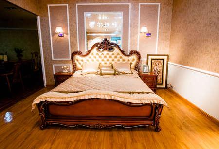 Posh bedroom design Editorial