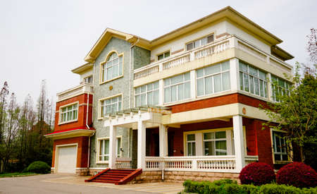 Exterior view of a mansion Editorial