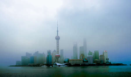 oriental pearl tower: Haze in the Oriental Pearl Tower in Shanghai Editorial