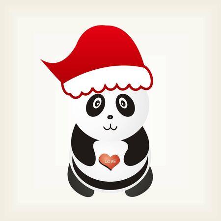 Christmas Panda Background Vector