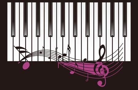 Piano background design Vector