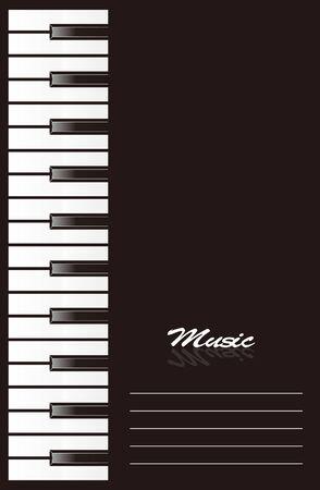 piano keys: Piano background design Illustration