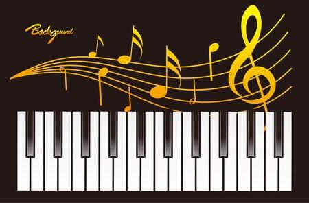 鋼琴背景設計 向量圖像