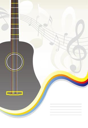 吉他封面 向量圖像
