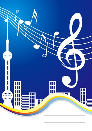 Music City Cover Vector