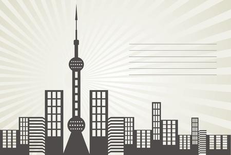 中國上海東方明珠矢量設計