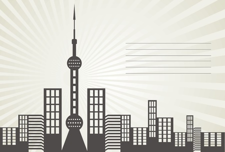 China Shanghai Oriental Pearl vector design
