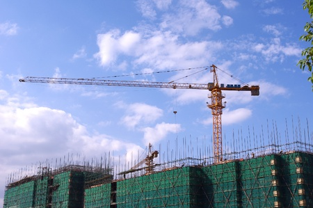 crane tower: Building construction