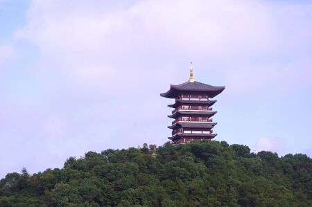 Chinese ancient buildings tower photo