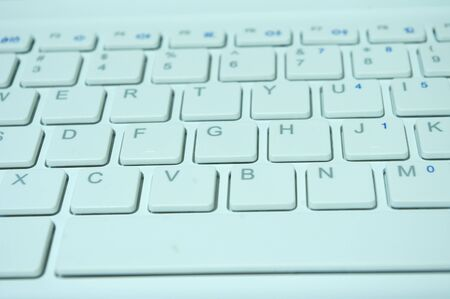 White notebook keyboard Stock Photo - 11515259