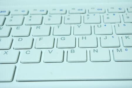 White notebook keyboard Stock Photo - 11515259