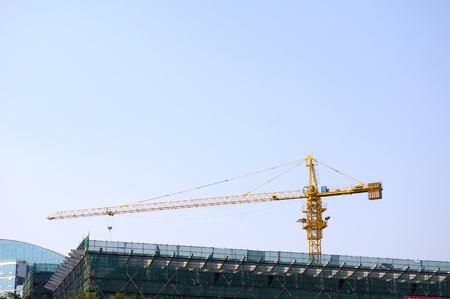 Construction cranes photo