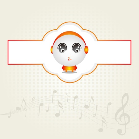 Music Baby Design Vector
