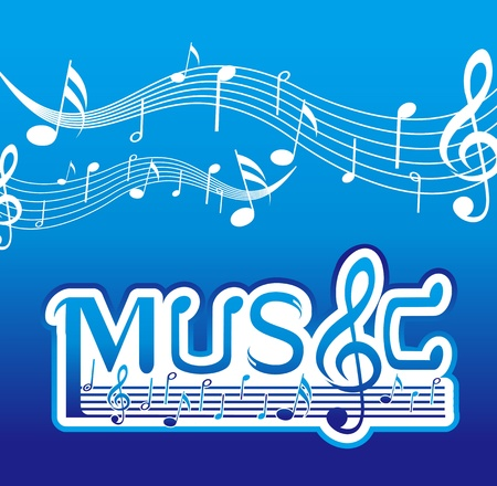 Music Font Design Stock Vector - 11621837