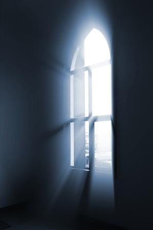 window light: Window light Stock Photo