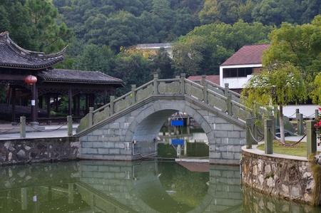 Suzhou Garden Bridge Stock Photo