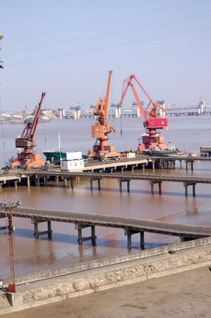 Quay cranes photo