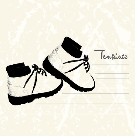 Vector retro schoenen