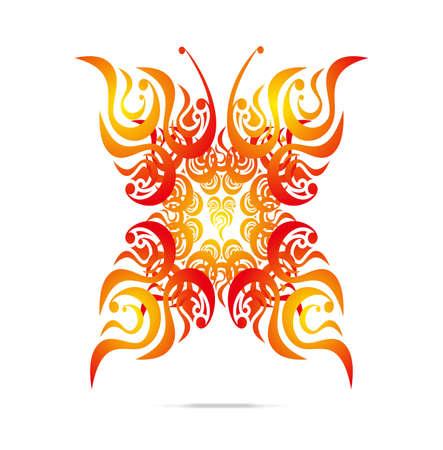 Butterfly pattern design Vector