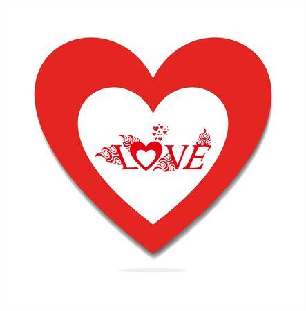Valentijnsdag liefde vector