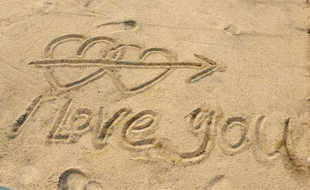 Love in the sand Stock Photo - 12209621