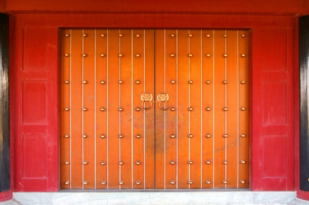 Chinese lions carved door