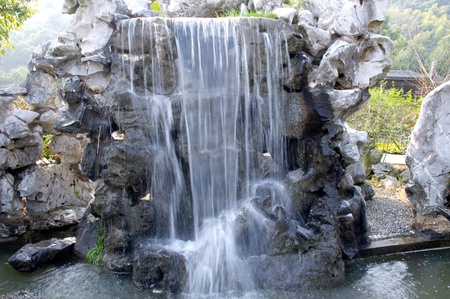 Artificial waterfall photo