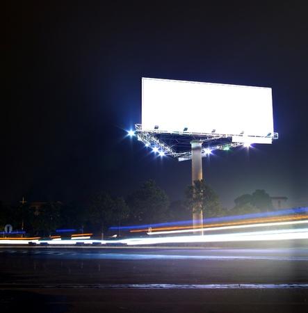 billboard blank: Traffic advertising Stock Photo