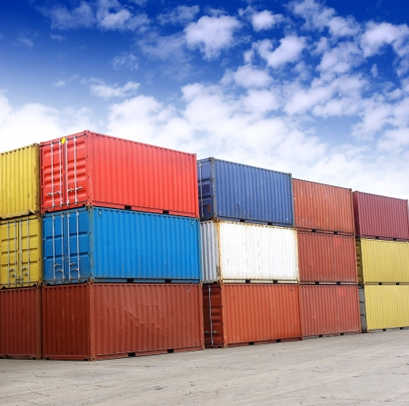 Containers and stackers photo