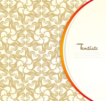 Retro patterns cover template Vector
