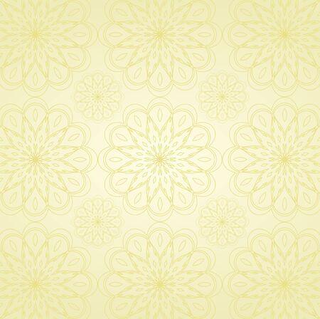 Seamless Damask wallpaper Stock Vector - 12749646