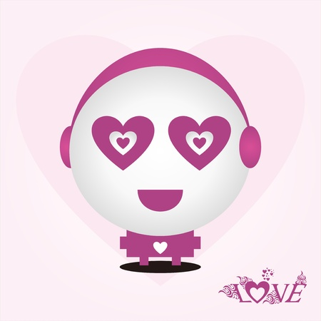 Love doll design Vector