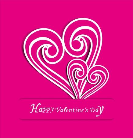 Valentine s Day retro love design Vector