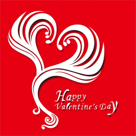 Valentine s Day retro love design Vector