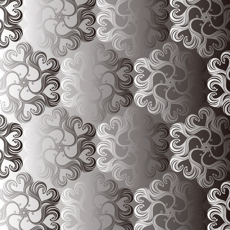 leafs: Seamless Damask wallpaper