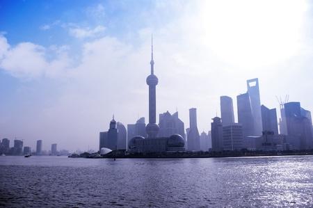 Shanghai skyline at sunrise photo