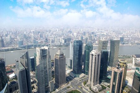 2012 Shanghai skyline overlooking photo