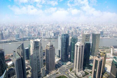 2012 Shanghai skyline overlooking photo