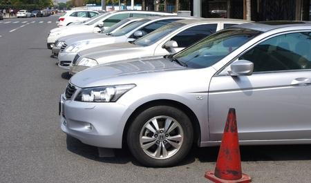 路邊停車 版權商用圖片