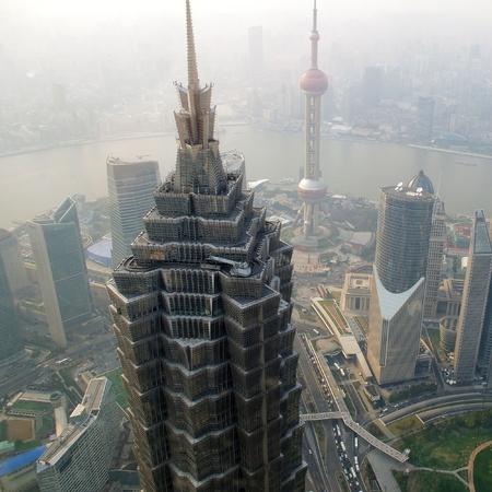 Dusk Shanghai panoramic photo