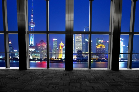 Shanghai scenery looking out the window Stock Photo - 13369783