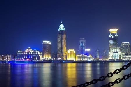 Beautiful night view of the Bund, Shanghai photo
